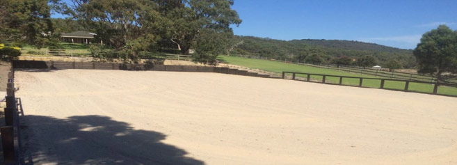 Horse arena construction at Mornington Peninsula